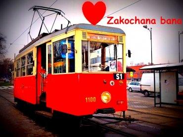 """""""Zakochana bana"""" to specjalny tramwaj kursujący tylko w Dniu Zakochanych (fot. materiały tram-silesia.pl)"""