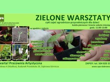 """Na """"Zielone warsztaty"""" zaprasza Pracownia O!Pa z Dąbrowy Górniczej (fot. materiały organizatora)"""