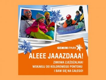Z zimowej zjeżdżalni można korzystać w parku w Bielsku-Białej (fot. mat. prasowe)