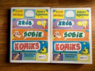 """Nagrodą w naszym konkursie są dwie książki pt. """"Zrób sobie komiks"""" (fot. Ewelina Zielińska/SilesiaDzieci.pl)"""