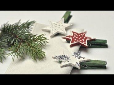 Embedded thumbnail for Klamerki świąteczne - ozdoba stołu wigilijnego